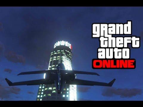 GTA V Online • Stunt: Mit der Luxor auf dem Maze Bank Tower landen! #9