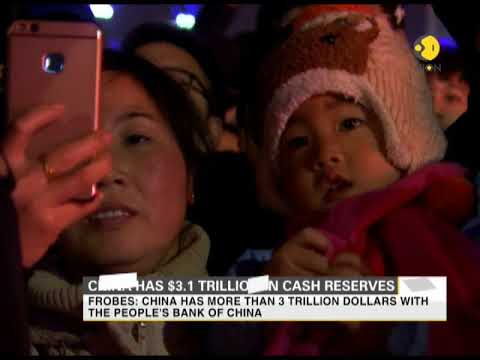 China has $3.1 trillion dollars in cash reserve