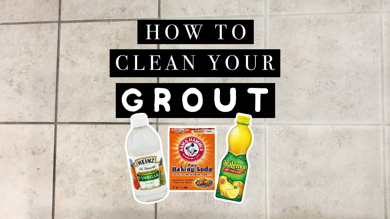how to clean tile grout with baking soda and vinegar