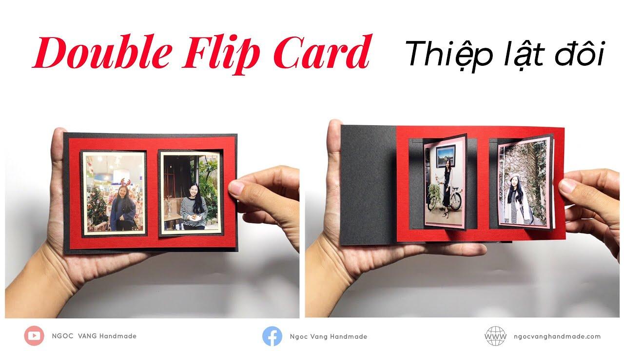 double flip card  thiỆp ĐỔi Ảnh ĐÔi  thiệp lật kép