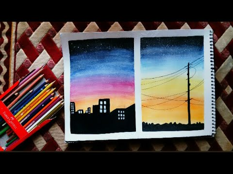 Watercolor pencil art for beginners | ArtisTa | - YouTube