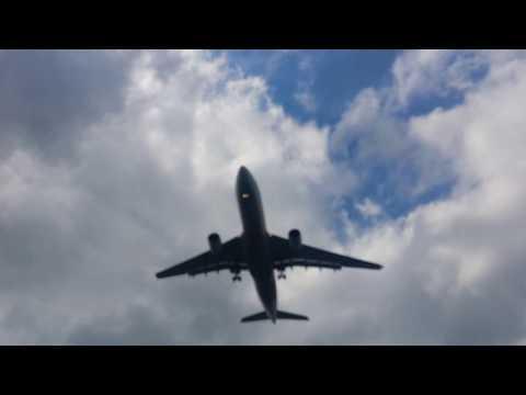 Travel to Turkey ,, Florya beach ..  plane above