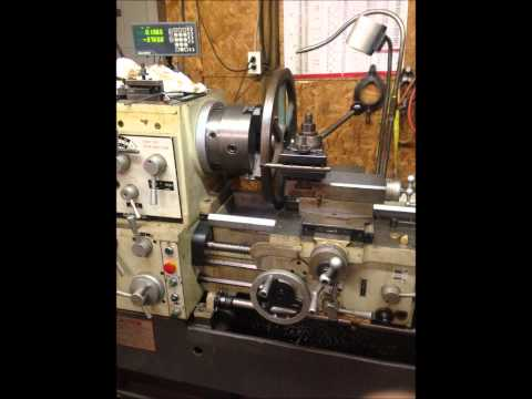Victor S2040B lathe turning 18 inch bandsaw wheels