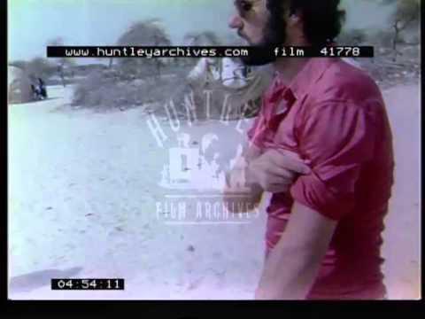 Mali in 1974.  Touareg camp in the Sahara.  Film 41778