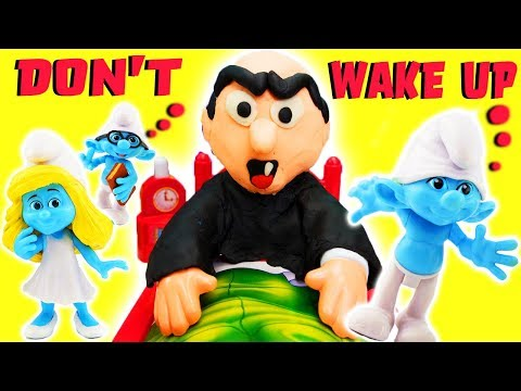 Gargamel Dont Wake Daddy Game w Smurfs Brainy, Papa Smurf, Clumsy, Smurfette! Learn Colors & Numbers