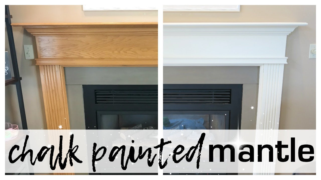 i chalk painted our mantle youtube rh youtube com painted fireplace mantel painting a concrete fireplace mantel