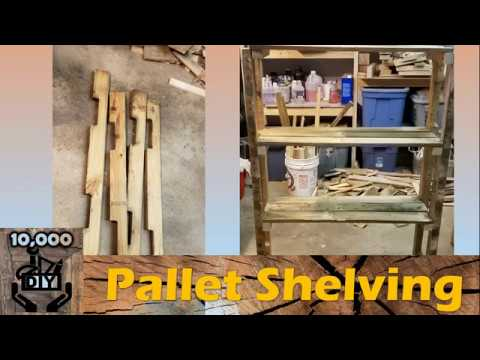 EASY Shelving Unit DIY with pallet woods | storage rack | shoe rack | reclaimed