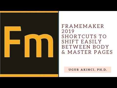FrameMaker 2019 Body & Master Page Shortcuts