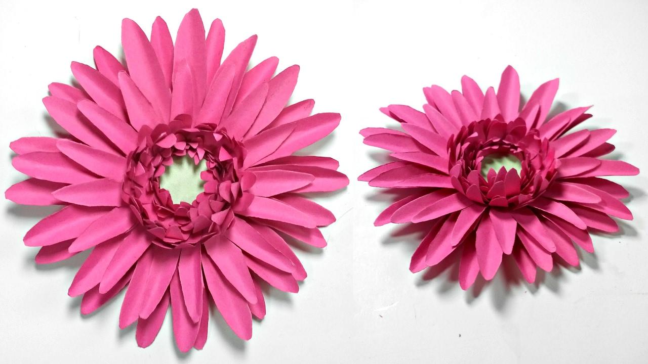 Gerbera Daisy Paper Flower Diy Tutorialper Flowers Easy For