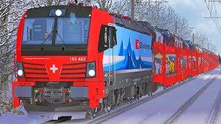 Let's Play Train Simulator 2019 | SBB Cargo International | Gotthard Nordrampe Schneesturm | Vectron
