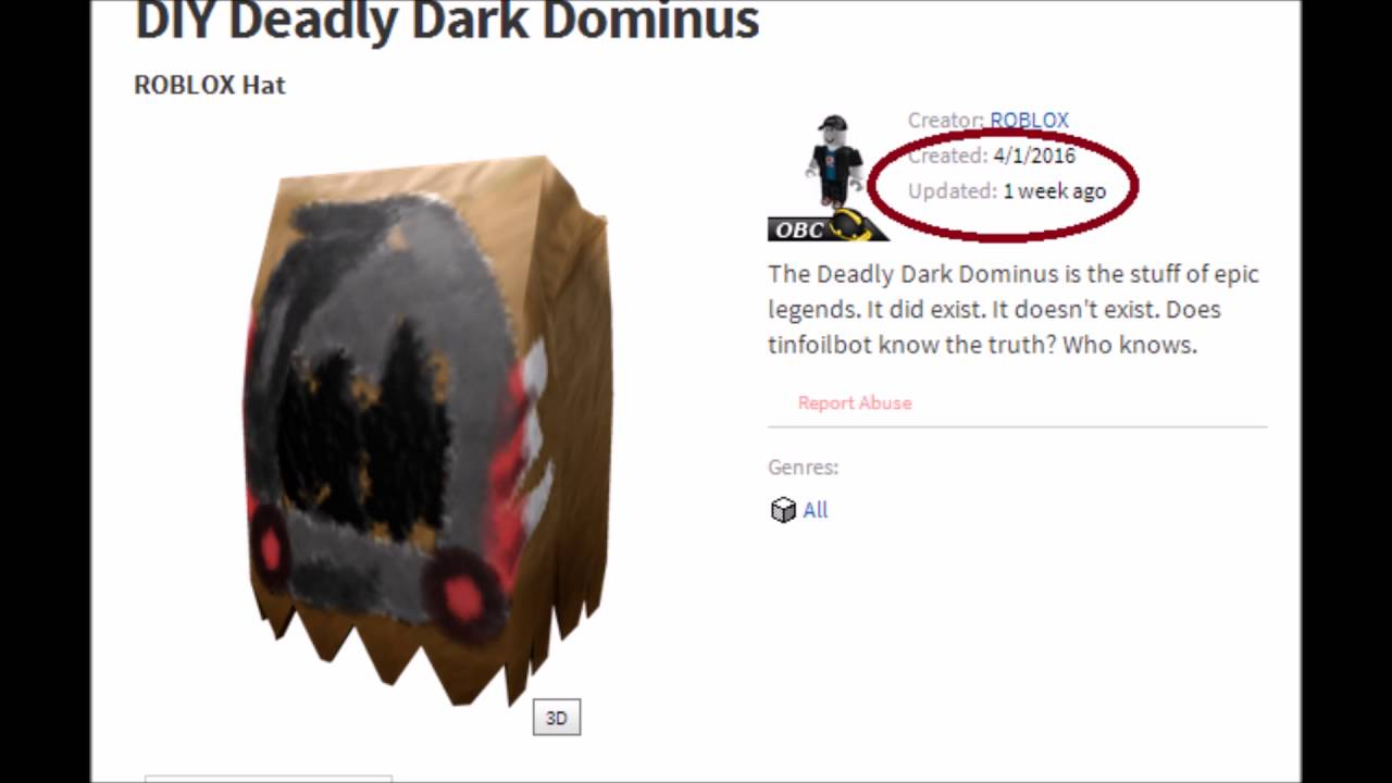 Roblox Dominus Hat Id Codes