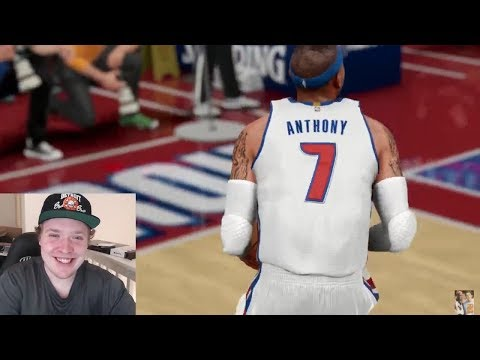 DETROIT PISTON FAN REACTS TO - WHAT IF CARMELO ANTHONY WAS DRAFTED BY THE DETROIT PISTONS