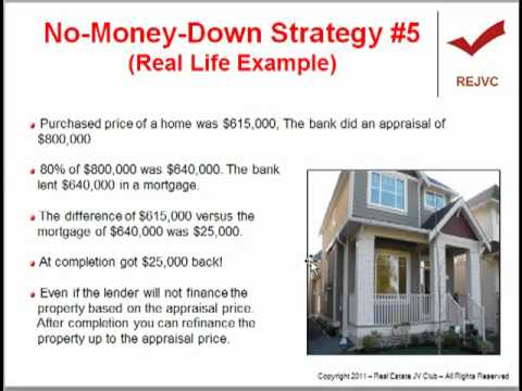 Canadian Real Estate - How To Use No Money Down Strategies
