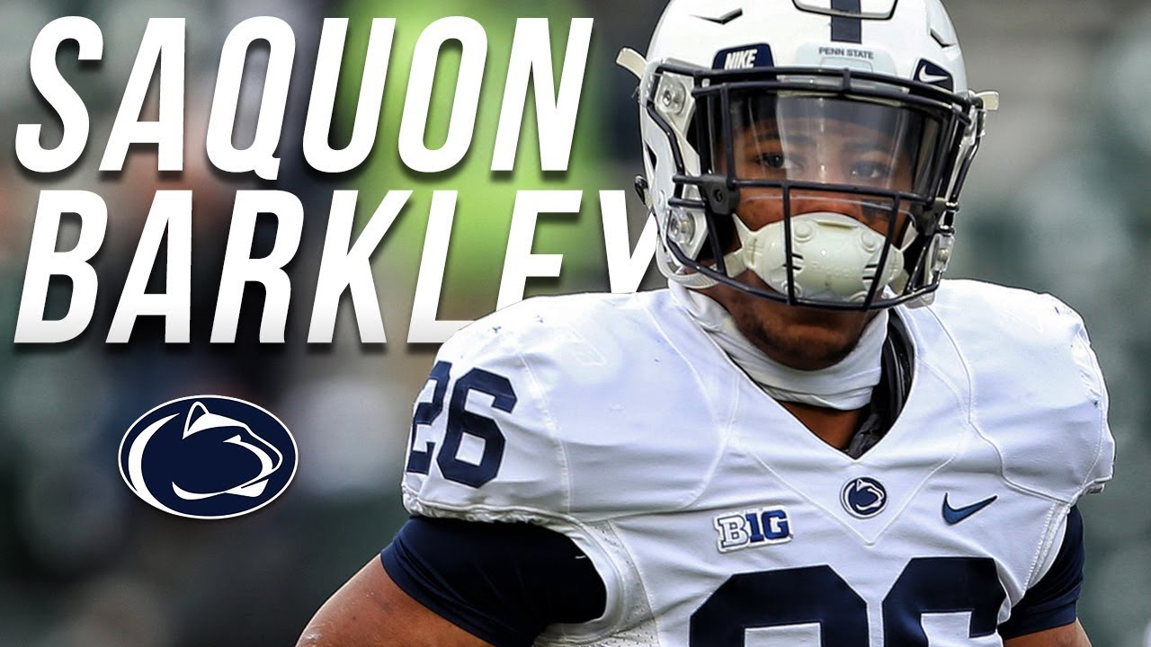 outlet store 66dab ab3fd The Best RB In College Football || Saquon Barkley Penn State Junior  Highlights