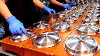 Чистая и тяжелая работа ~ Свинина на углях в большом ресторане / корейская кухня