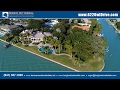 Designer Bird Key estate for sale on two direct bayfront lots with 450+ feet of direct bay frontage