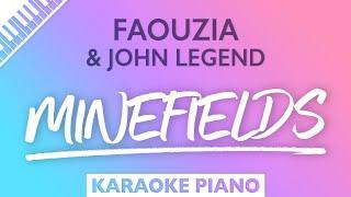 Faouzia, John Legend - Minefields (Karaoke Piano)