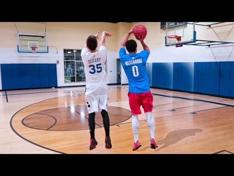 KEVIN DURANT VS RUSSELL WESTBROOK 1V1 BASKETBALL CHALLENGES