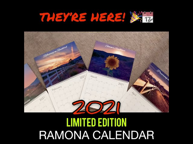 2021 LIMITED EDITION Ramona Calendars are Here!