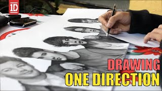 One Direction Drawing By Juan Andres