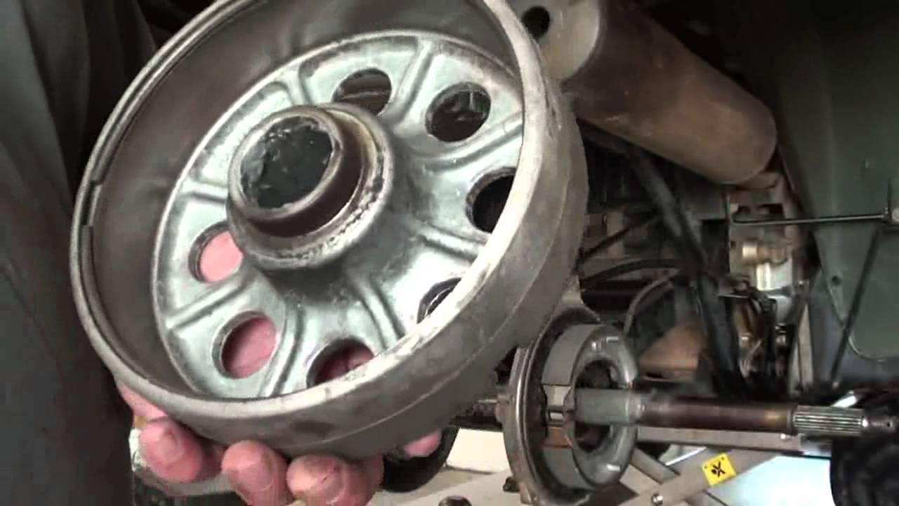 Pt3 Honda TRX300FW Rear Axle Bearing & Brake Repair At D