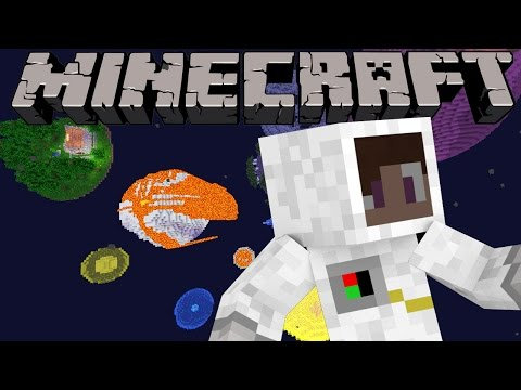 Minecraft Survival In Space! Planet Exploration & SpaceShip Build! (Minecraft Let's Play )