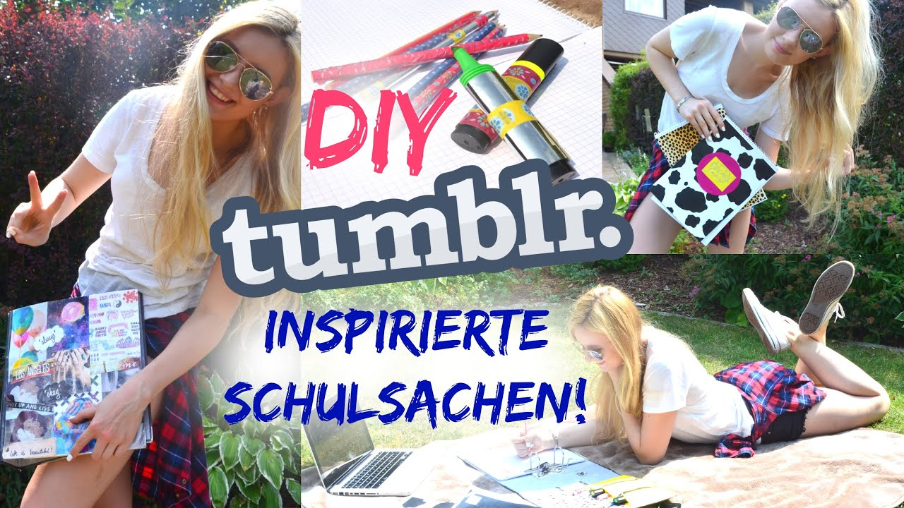 diy tumblr inspirierte schulsachen back to school 1 youtube. Black Bedroom Furniture Sets. Home Design Ideas