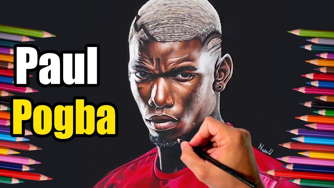 Dibujo de Paul Pogba  speed drawing  YouTube