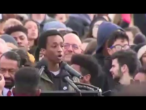 Student delivers powerful speech at National Walkout Day rally