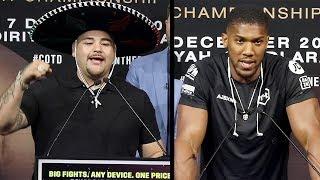 ANDY RUIZ JR VS. ANTHONY JOSHUA 2 - FULL NEW YORK PRESS CONFERENCE & FACE OFF VIDEO