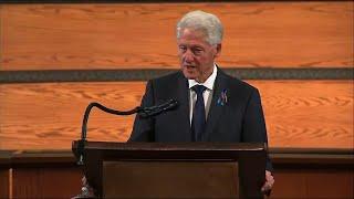 Clinton, Bush say John Lewis lived his faith