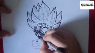 Como dibujar a goku super sayayin - How to draw goku super saiyan