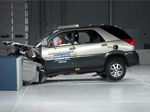 2002 buick rendezvous moderate overlap iihs crash test. Black Bedroom Furniture Sets. Home Design Ideas