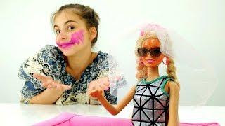 Видео про кукол Барби - розыгрыш с автозагаром. Видео для девочек
