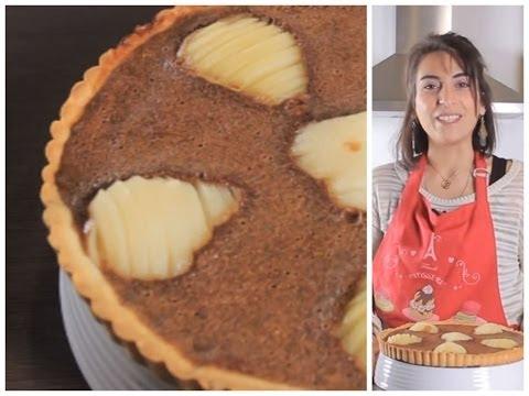طريقة عمل تارت الشوكولاتة والإجاص | مع فاطمة