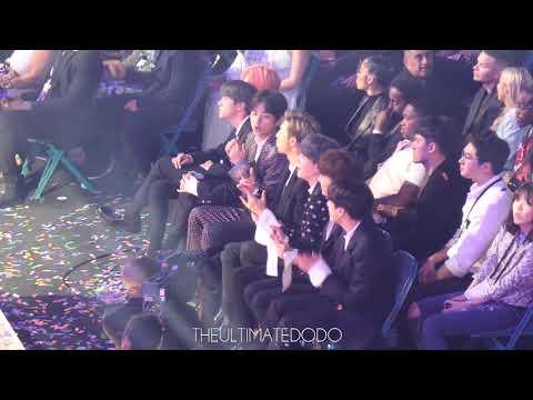190501 BTS 방탄소년단 Reaction to Kelly Clarkson @ 2019 빌보드 뮤직 어워드 Fancam