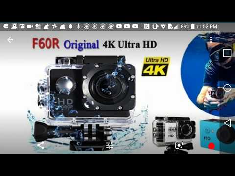 WISH: REVIEW F60R Original 4K Ultra HD Sports Camera Action DV Camcorder
