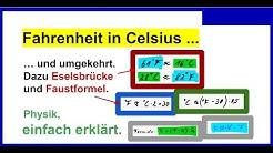 Fahrenheit in Celsius umrechnen und umgekehrt. Dazu Eselsbrücke und Faustregel.
