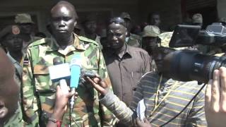 JAMES ARUSI REPORTING IN THE SOUTH SUDAN REBEL HELD AREA. LOKWANGULEYAU YAU 3