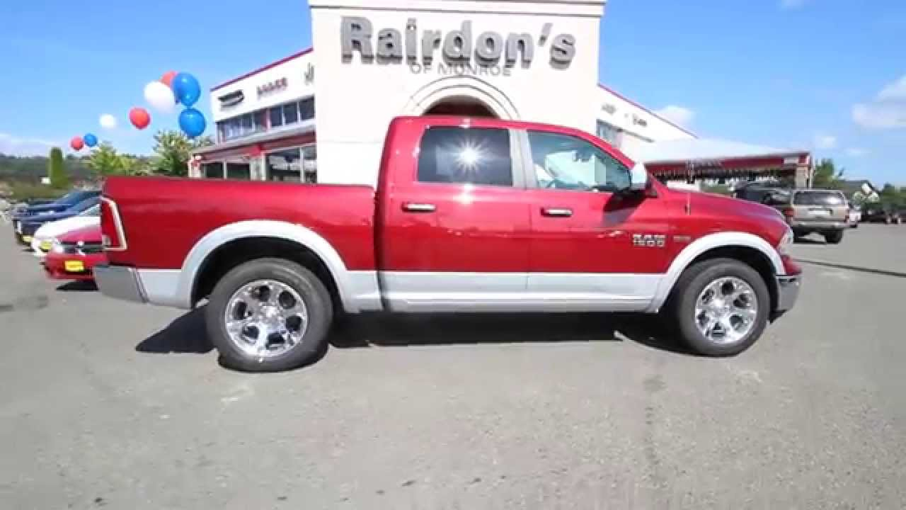 2014 dodge ram 1500 laramie crew cab red two tone es401629 everett snohomish - Dodge Ram 2500 2014 Red