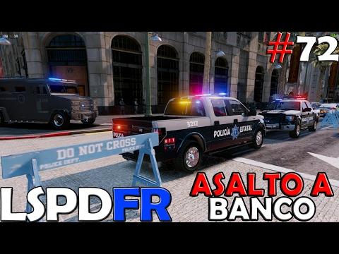 GTA V LSPDFR #72  POLICIA ESTATAL DE BAJA CALIFORNIA SUR | ASALTO A BANCO | TheAxelGamer
