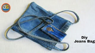 How to sew a bag | Best out of waste old jeans | Reuse jeans | reuse old jeans into beautiful bag