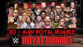 WWE Royal Rumble 2015 Match HD (2K15)