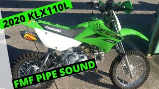 klx110l fitted with fmf pipe exhaust sound pro taper bars and other trick bits