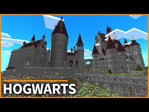 Minecraft PE Maps - HOGWARTS From HARRY POTTER! Map Tour & Download - MCPE 1.2