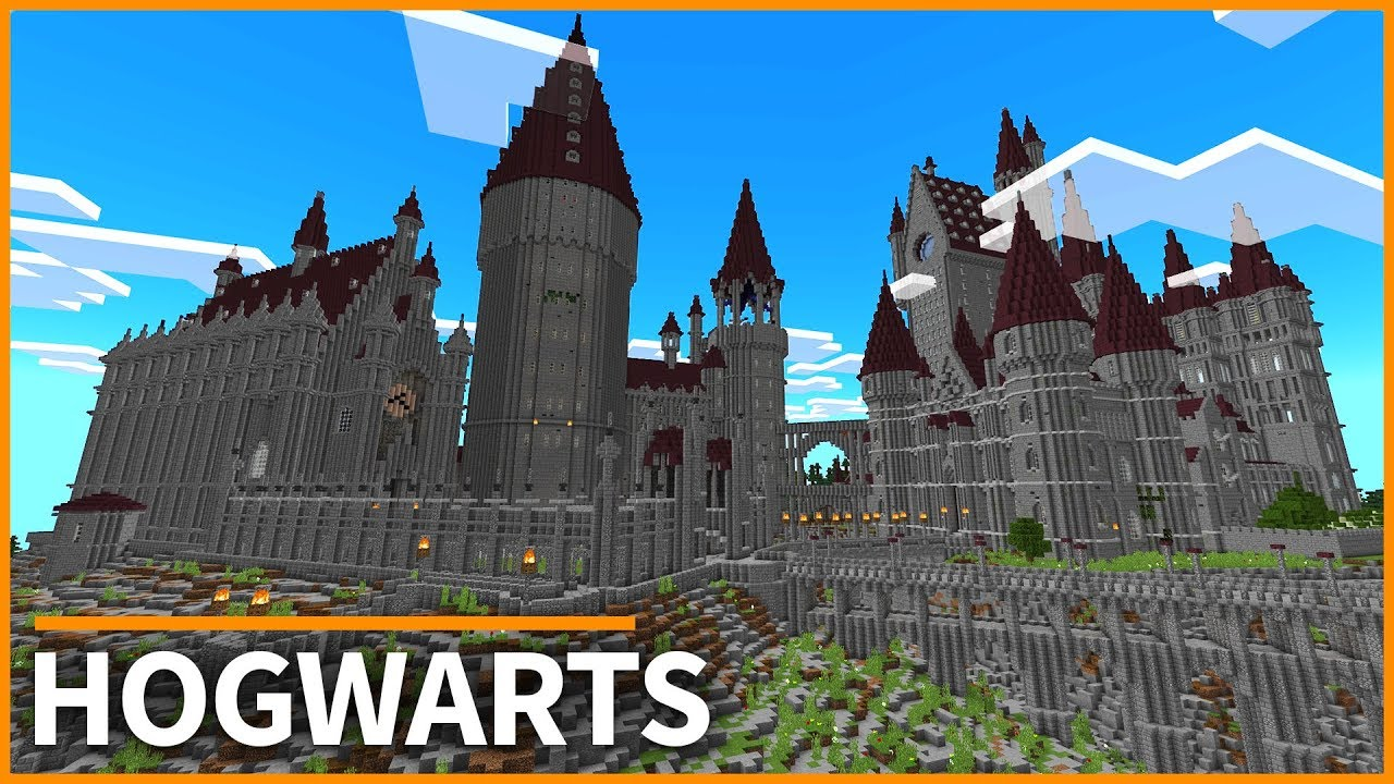 Minecraft PE Maps - HOGWARTS from HARRY POTTER! Map Tour & Download ...