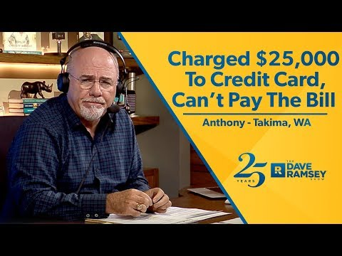 Charged To Credit Card Cant Pay The Bill