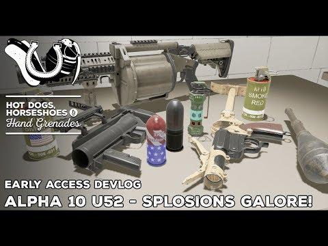 H3VR Devlog: Alpha 10 of U52 - MOAR SPLOSIONS!, MGL, M320, Sturmpistole, T&H Upgrades and more!