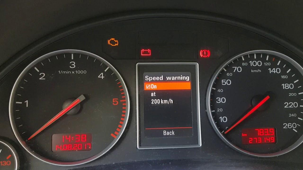 Audi A4 B6 Menu Licznika Youtube