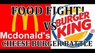Food Fight! Mcdonalds vs Hungry Jacks(burger king) Cheese Burgers